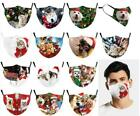 Face Mask Reusable Washable Protective Breathable Covering Christmas Print Sale