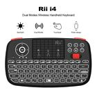 Mini Bluetooth Keyboard 2.4GHz Dual Modes Handheld Touchpad Remote Control
