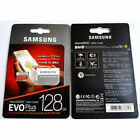 SAMSUNG EVO Plus Micro SD Card SDHC CLASS10 Card & Adapter 128GB 256GB