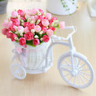 Artificial Flowers Peonies With Cycle Shape Vase Basket Pot Home Room Decoration