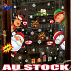 Christmas Santa Removable Window Stickers Art Decal Wall Home Shop Decor Gift Es