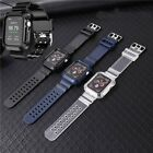Carbon Fiber Watch Band Case Wrist Strap For Apple Watch Series 6/5/4/3/2/1/se