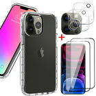 For iPhone 12 Pro/12 Pro Max Clear Case +Screen Protector+Camera Lens Protector