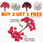 40-160X Artificial Red Holly Berry-Christmas Decor On Wire Bundle Garland Wreath