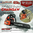 COOCHEER 62CC 20 Gas Chainsaw Handed Petrol Chain Woodcutting 2 Cycle 4HP B 119