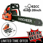COOCHEER 62CC 20 Gas Chainsaw Handed Petrol Chain Woodcutting 2 Cycle 4HP B 148
