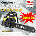 COOCHEER 62CC 20 Gas Chainsaw Handed Petrol Chain Woodcutting 2 Cycle 4HP B 149