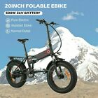 20 500W Electric Bike Folding Fat-Tire Beach,Mountain Bicycle 12Ah B 84