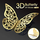 12pcs 3d Diy Wall Decal Stickers Butterfly Home Room Art Decor Decorations Au