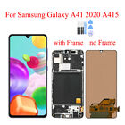 For Samsung Galaxy A41 2020 A415 SM-A415F LCD Touch Screen Digitizer Frame