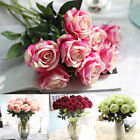 Hot Artificial Fake Rose Flannel Flower Bridal Wedding Supplies Home Party Decor