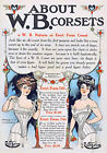 19th c. W. B. CORSETS Nuform Erect Form Advertisement, NEW Fine Art Giclee Print