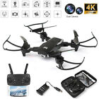 4K Drone Selfie WIFI FPV Dual HD Camera Foldable Arm Headless RC Quadcopter Toy