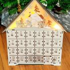 LED Battery Light Christmas Wood Tradtional Calender Wooden Advent Calendar Xmas
