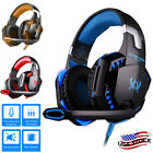 Gaming Headset Mic LED Headphones Stereo Bass Surround For PC XBOX Series X PS5