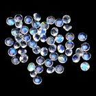 Lot Natural 3mm to 15mm Rainbow Moonstone Round Faceted Cut Loose Gemstone