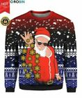 Santa Claus Snowflakes 3D UGLY CHRISTMAS SWEATER S-3XL