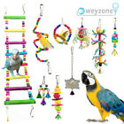 10 Pack Parrot Set Toys Metal Rope Small Ladder Stand Budgie Cockatiel Cage Bird