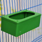 Bird Feeding Bowl Food Plastic Square Cup Holder Parrot Pigeon Cage Feeder Hot