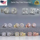 925 Silver,gold,rose Gold Stud Earrings For Women Fashion Jewelry A Pair/set