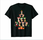 Cute Santa Chihuahua Christmas Tree Funny Dog Lover Gift T-Shirt Size S- 5XL