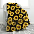 Jekeno Sunflower Blanket Soft Warm Print Throw Blanket Lightweight for Kids Adul