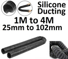 Black Flexible Silicone Superior Diesel Heater Ducting Boat Caravan Heating Duct