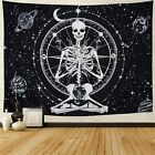 Amonercvita Starry Skull Tapestry Moon Planet Chakra Tapestry Yoga Meditation Sk