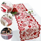 Love Decoration Long Table Runner Valentine's Day Print Red Heart Wedding Party