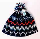 Old Navy Girls Large or Small Multicolored Fleece Beanie Hat Pom Pom New w Tags