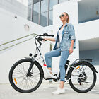 26'' Electric Bike City Commuter Bicycle EBike Cycling W/ Removeable Li-Battery.