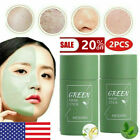 2PC Green Tea Purifying Clay Stick Solid Mask Acne Blackhead Remover Cleansing