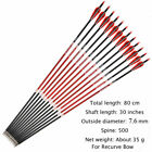 6/12 Pack 28/30/32 Inch Carbon Arrow Spine 500 for Compound/Recurve Bow Hunting