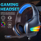 RGB LED Gaming Headset Headphone 7.1 Surround Sound Deep Bass for PS5 PS4 Laptop