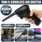 Внешний вид - 45000 RPM Cordless Rechargeable Air Duster Air Can for Car Computer Cleaning