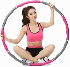 Collapsible Weighted Hula Hoop 1KG Fitness Gym Exercise Workout ABS Padded US