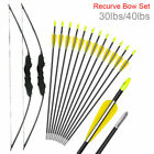 51 inch Takedown Recurve Bow Hunting + 12PCS Arrows Set Archery Right Left Hand