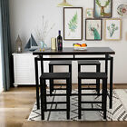 5 Piece Dining Table Set W/Wooden Table 4 Chairs Kitchen Dining Room Furniture