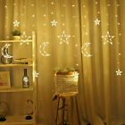 LED Moon Star Fairy String Lights EID Ramadan Hanging Icicle Lamps Party Decor
