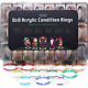 Tidyboss DND Miniatures Acrylic Condition Rings 96 PCS Status Effects Markers in