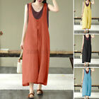 Women Vintage Chinese Style Summer Dungaree Jumpsuit Romper Playsuit Overalls US