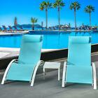 3Pcs Adjustable Pool Chaise Lounge Chair Outdoor Patio Furniture Cushion w/table