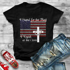 Stand for the Flag, I Kneel at the Cross Patriotic Christian T-Shirt
