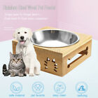 Dual/Single Pet Bowls Dish Dog Cat Puppy Stand Feeder Food Water Stainless Steel