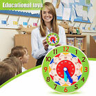 Clock Toy Creative Cultivate Time Concept Wood Teaching Children Toy