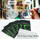 1/5/10 Anti Fog Wipes for Glasses Reusable Cloth Advanced Nano Microfiber Suede