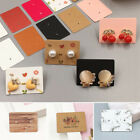 100pcs Lable Jewelry Display Card Kraft Paper Packing Card Blank Earring Cards