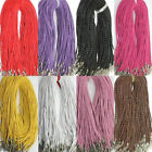 5PCS Leather Braid Rope Hemp Cord Lobster Clasp Chain Necklace DIY Jewelry Decor