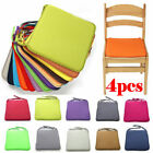 4pcs Chair Seat Pads Dining Cushions Tie On Garden Furniture Outdoor Patio 2021