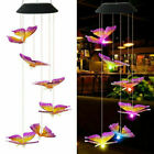 LED Solar Wind Chimes Outdoor Color Changing Waterproof Hanging Lamp Home Garden